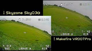Makerfire VR007 Pro Mini FPV Goggles Reception sensitivity Test фото