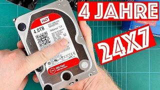 WD Red nach 4 JAHREN 24x7 // Erfahrungsbericht & Test // NAS Festplatte // Deutsch