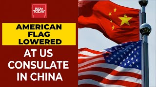 US-China Faceoff: American Flag Lowered At US Consulate In Chengdu, China| Breaking News - Download this Video in MP3, M4A, WEBM, MP4, 3GP