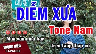 Karaoke Diễm Xưa Tone Nam Nhạc Sống | Trọng Hiếu