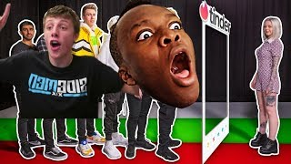 SIDEMEN TINDER IN REAL LIFE but it`s only KSI (JJ) and W2S (Harry)