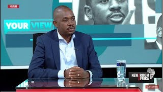 Watch Nelson Chamisa Roast Mnangagwa In  New SA Interview