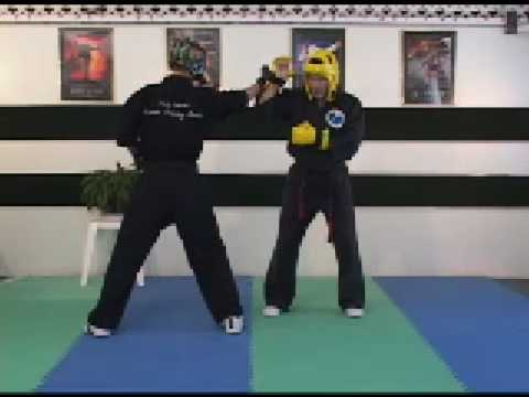 Sport Karate Sparring and Hand Position Half Guard