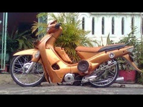 Video Motor Trend Modifikasi | Video Modifikasi Motor Honda Supra 100 cc Ceper Terbaru Part 2