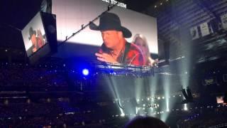Garth Brooks performing at ACM Awards 2015