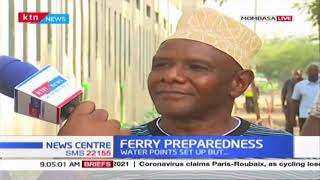 Kenya ferry set up water points to handle huge crowd amid coronavirus scare