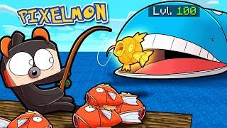 How to FISH for SEA MONSTER POKEMON! (Minecraft Pixelmon)