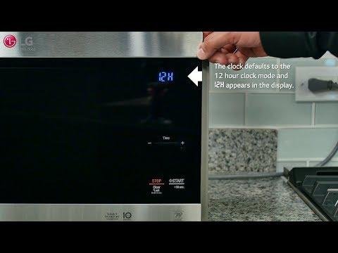 LG NeoChef™ - Setting the Clock & Kitchen Timer