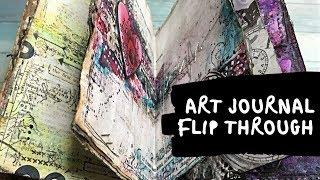 Flip Through Of My Newest  Altered Book Art Journal
