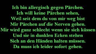 Annette Louisan Pärchenallergie lyrics