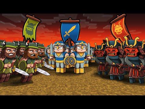 Medieval HISTORY WAR in Minecraft! (Vikings vs Knights vs Samurai)