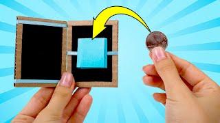 DIY Greedy Magic Box From Cardboard And Ribbons