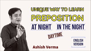 At Night or In the Night - Prepositions (English Version)
