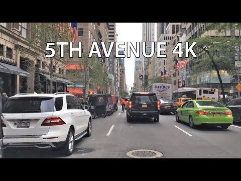 Video Driving Downtown - Fifth Avenue - New York City NY USA