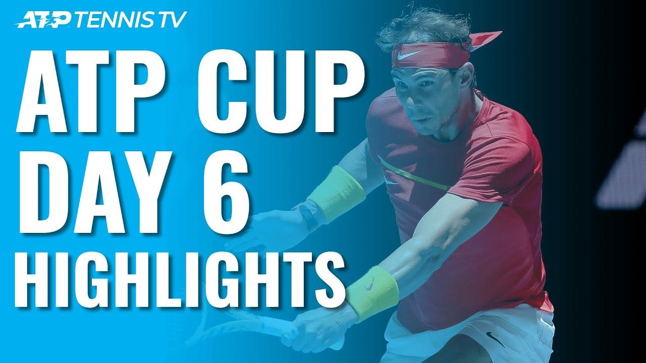 Лучшие удары и розыгрыши среды на ATP Cup (ВИДЕО)