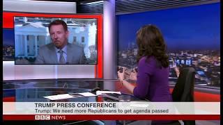 Trump Fire and Fury - BBC World News - Asia/Aust Bkfast US Lunch.
