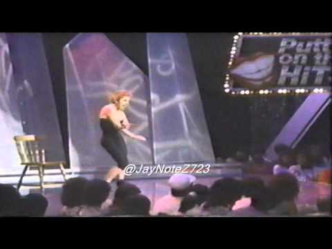 Jazmin performing Madonna - Papa Don't Preach (1986 Puttin On The Hits)