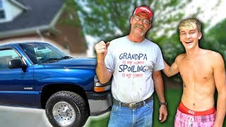SURPRISING MY GRANDPA WITH A NEW TRUCK!