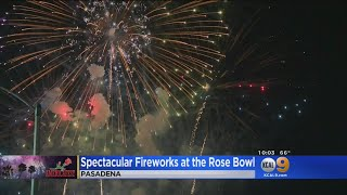 Spectacular Fireworks At The Rose Bowl
