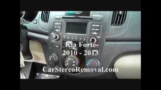 How to Kia Forte car Stereo radio cd Removal 2010 - 2013 replace repair