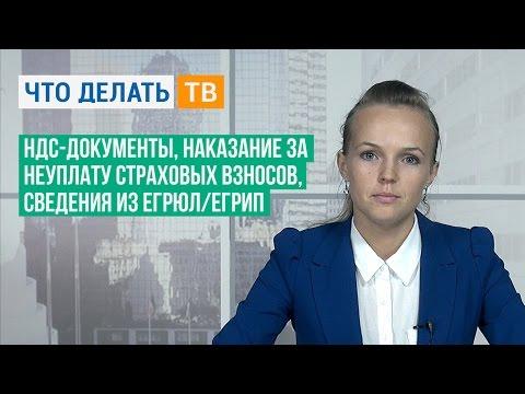 НДС-документы, наказание за неуплату страховых взносов, сведения из ЕГРЮЛ/ЕГРИП