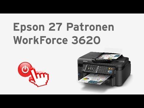 Epson 27 Tintenpatronen - Epson WorkForce 3620 anschalten