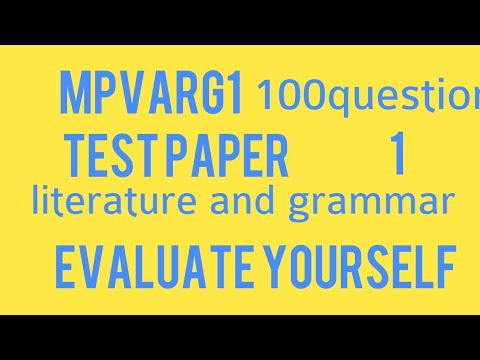 MP varg1 English test paper