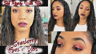 Get Ready With Me 💋 Fall Inspired Cranberry Eyes & Berry Lips