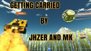 Rocket League | GETTING CARRIED BY JHZER AND PULSE MK | 3V3 COMPETITIVE HIGHLIGHTS