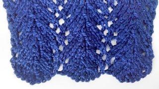 Knitting Patterns *Pine Trees* Lace Stitch