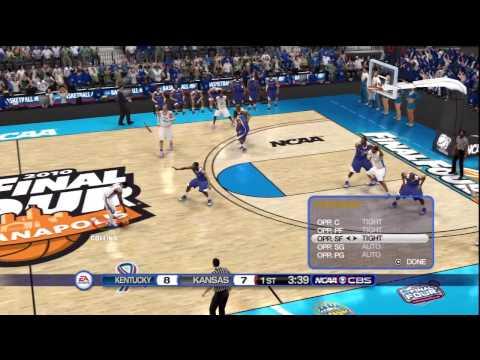 NCAA Basketball 10 (PS3) Kansas vs. Kentucky (Championship, Pt. 1)