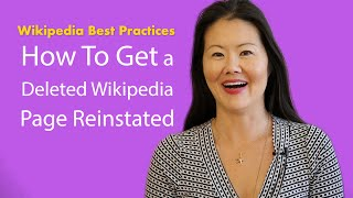 How to Get a Deleted Wikipedia Page Reinstated