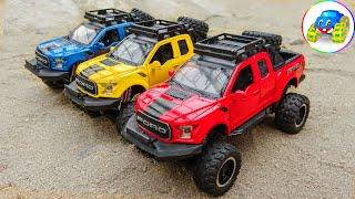 Jeep Car, Fire Truck - Toy Cars Clean - سيارة جيب ، سيارة المطافئ - سيارات لعبة نظيفة | Kid Studio