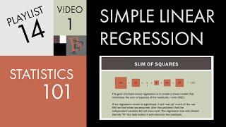 Statistics 101: Linear Regression, The Very Basics