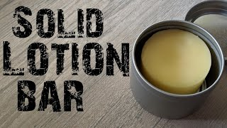 Solid Lotion Bars With Recipe!