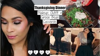 Get Ready With Me Thanksgiving Holiday Makeup Hair & Outfit  Casserole Recipe - MissLizHeart