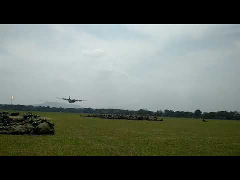 LOW PASS HERCULES C-130 By Indonesian Air Force @DROPZONE SULAIMAN