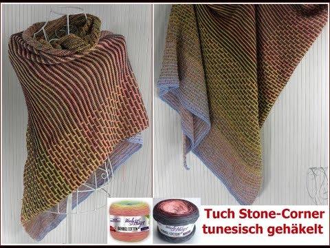 Tuch Tartan Look Einfach Tunesisch Häkeln Teil 2 Mit 2 Bobbel