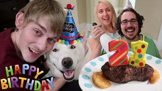MY DOG TURNED 21 YEARS OLD! (HILARIOUS PARTY)