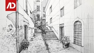 Drawing Spain Street View | Daily Architecture Sketches #17