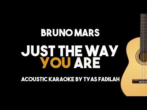 Just The Way You Are - Bruno Mars (Acoustic Guitar Karaoke with Lyrics)