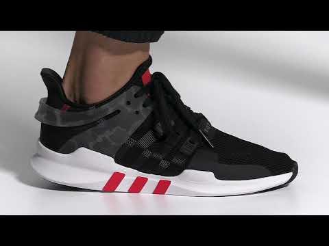 adidas Originals EQT Support ADV Herren Sneaker schwarz rot AQ1043