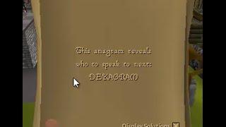 DEKAGRAM - OSRS anagram clue