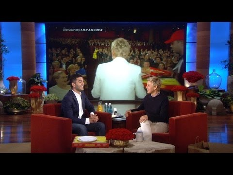 Ellen's Oscar pizza guy