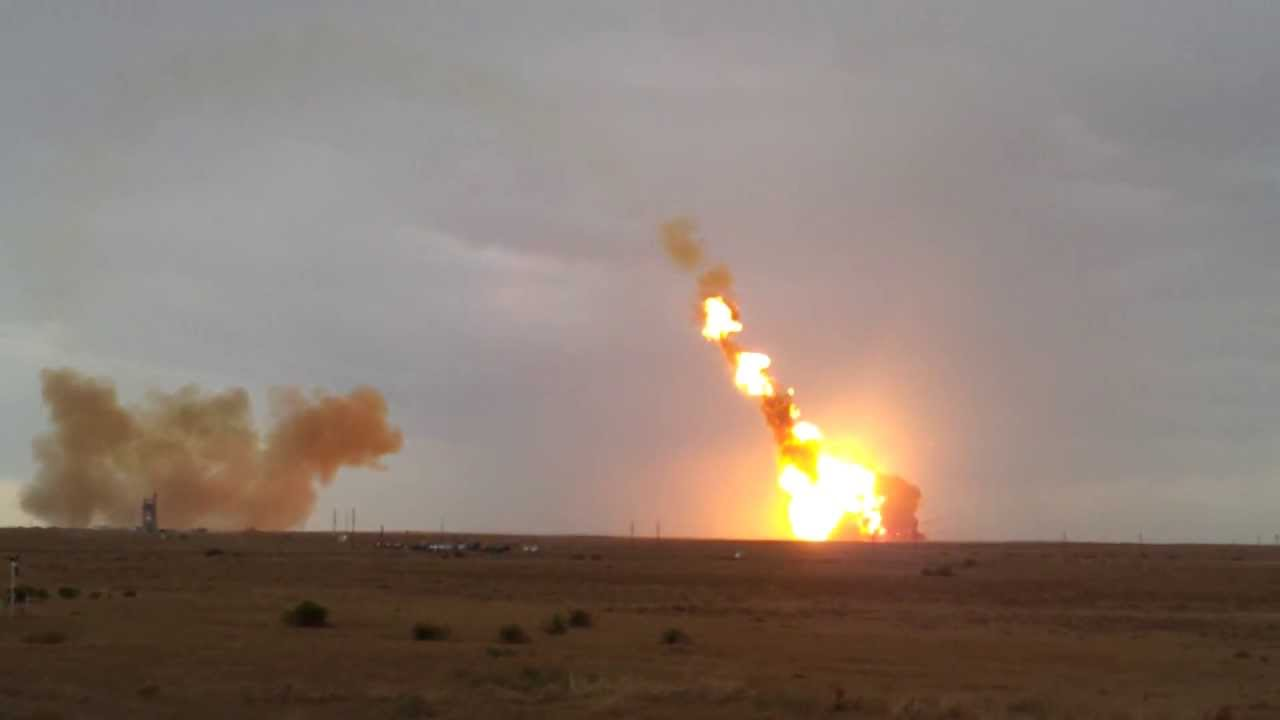 Here's A Better Angle Of That Russian Rocket Exploding