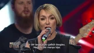"""Video thumbnail of """"Džordana Butkutė - """"Dėl tavęs"""" (Dainuoju Lietuvą)"""""""