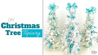 DIY Christmas Tree Topiary For Your Table