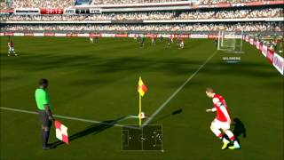 Winning Eleven 2014: Arsenal vs FC Barcelona (CPU) Super Star Difficulty