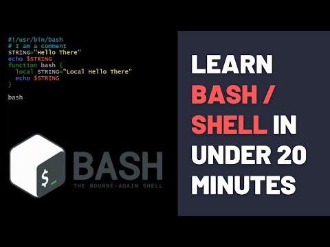 Bash Shell Scripting Tutorial For Beginners - Bash Basics in 20 Minutes