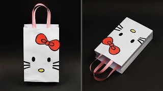 DIY Hello Kitty Paper Bag | How To Make Paper Gift Bag | DIY Goodie Bag / Candy Bag